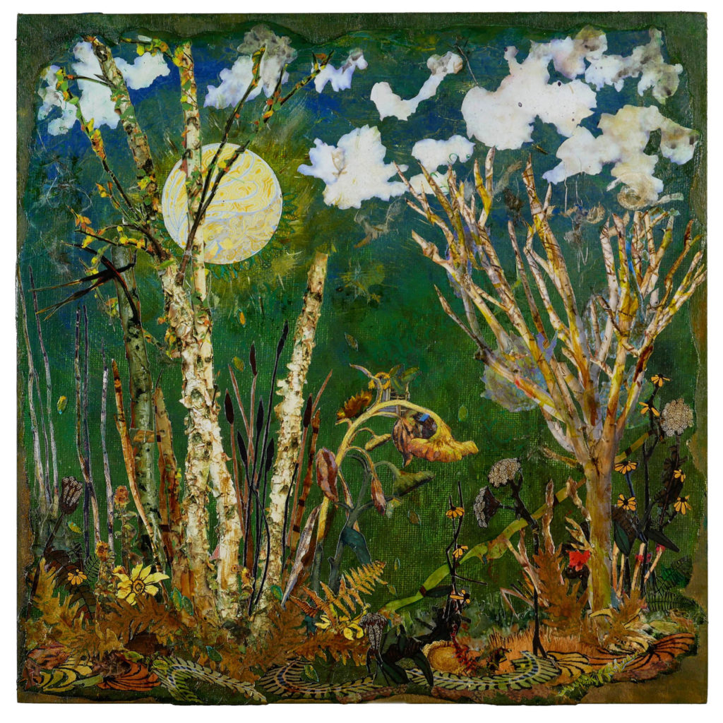 Mary Apffell, Old Woods, Collage, Solo Exhibit