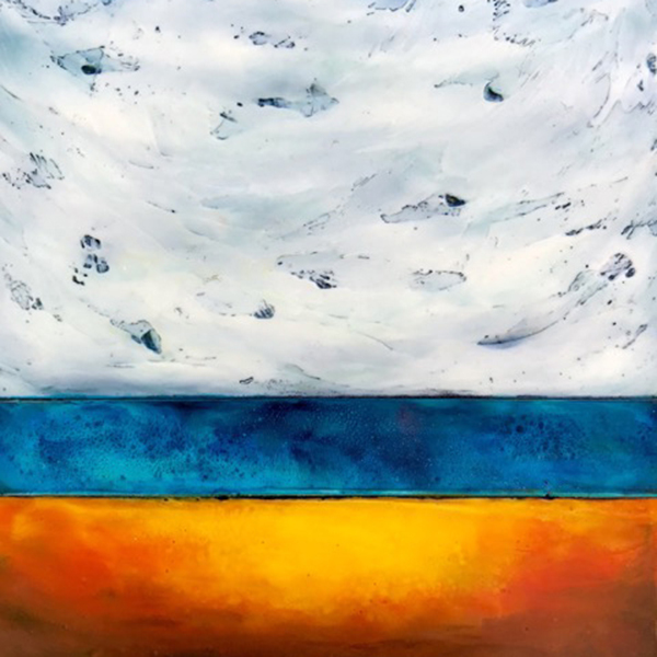 Tamera Abate, Coming Home II, Encaustic, Solo Exhibit, Launched in to Spokane Market